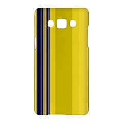 Yellow Blue Background Stripes Samsung Galaxy A5 Hardshell Case  by Simbadda