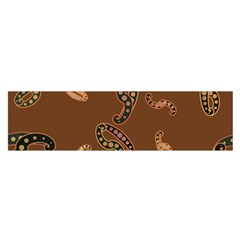 Brown Forms Satin Scarf (oblong)