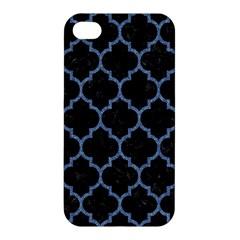 Tile1 Black Marble & Blue Denim Apple Iphone 4/4s Premium Hardshell Case by trendistuff
