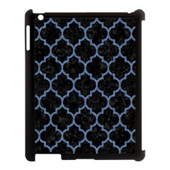 Tile1 Black Marble & Blue Denim Apple Ipad 3/4 Case (black) by trendistuff