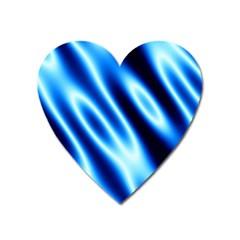 Grunge Blue White Pattern Background Heart Magnet by Simbadda