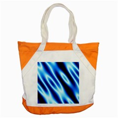 Grunge Blue White Pattern Background Accent Tote Bag by Simbadda