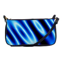 Grunge Blue White Pattern Background Shoulder Clutch Bags by Simbadda