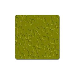 Olive Bubble Wallpaper Background Square Magnet by Simbadda