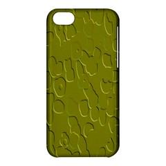 Olive Bubble Wallpaper Background Apple Iphone 5c Hardshell Case by Simbadda