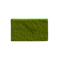 Olive Bubble Wallpaper Background Cosmetic Bag (xs) by Simbadda