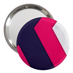 Pink Pattern 3  Handbag Mirrors by Simbadda