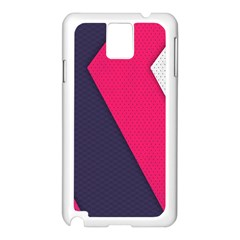 Pink Pattern Samsung Galaxy Note 3 N9005 Case (white) by Simbadda