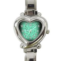 Grunge Rain Frame Heart Italian Charm Watch by Simbadda