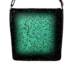 Grunge Rain Frame Flap Messenger Bag (l)  by Simbadda