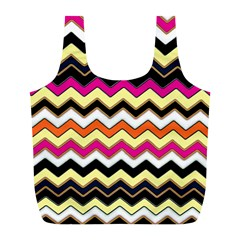 Colorful Chevron Pattern Stripes Pattern Full Print Recycle Bags (l)  by Simbadda