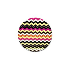 Colorful Chevron Pattern Stripes Pattern Golf Ball Marker (4 Pack) by Simbadda