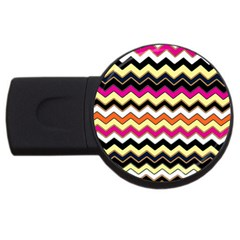 Colorful Chevron Pattern Stripes Pattern USB Flash Drive Round (4 GB)