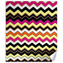 Colorful Chevron Pattern Stripes Pattern Canvas 20  X 24   by Simbadda