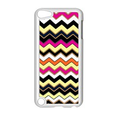 Colorful Chevron Pattern Stripes Pattern Apple Ipod Touch 5 Case (white) by Simbadda