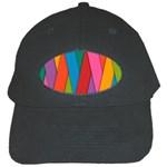 Colorful Lines Pattern Black Cap