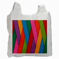 Colorful Lines Pattern Recycle Bag (one Side)