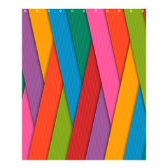 Colorful Lines Pattern Shower Curtain 60  X 72  (medium)  by Simbadda