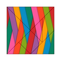 Colorful Lines Pattern Acrylic Tangram Puzzle (6  x 6 ) by Simbadda
