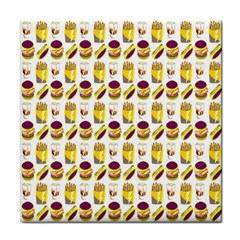 Hamburger And Fries Tile Coasters