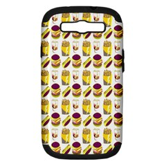 Hamburger And Fries Samsung Galaxy S Iii Hardshell Case (pc+silicone) by Simbadda
