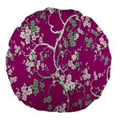 Floral Pattern Background Large 18  Premium Round Cushions by Simbadda