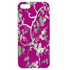 Floral Pattern Background Apple Iphone 5 Hardshell Case With Stand by Simbadda