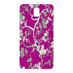 Floral Pattern Background Samsung Galaxy Note 3 N9005 Hardshell Back Case by Simbadda