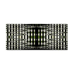 Interwoven Grid Pattern In Green Cosmetic Storage Cases by Simbadda