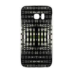 Interwoven Grid Pattern In Green Galaxy S6 Edge by Simbadda