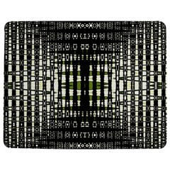 Interwoven Grid Pattern In Green Jigsaw Puzzle Photo Stand (rectangular) by Simbadda