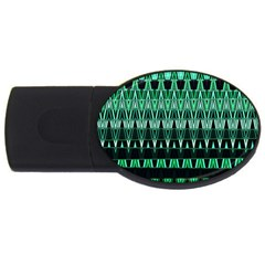 Green Triangle Patterns Usb Flash Drive Oval (2 Gb) by Simbadda
