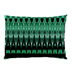 Green Triangle Patterns Pillow Case (two Sides) by Simbadda
