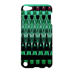 Green Triangle Patterns Apple Ipod Touch 5 Hardshell Case by Simbadda