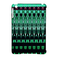 Green Triangle Patterns Apple Ipad Mini Hardshell Case (compatible With Smart Cover) by Simbadda