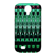 Green Triangle Patterns Samsung Galaxy S4 Classic Hardshell Case (pc+silicone) by Simbadda