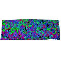 Green Purple Pink Background Body Pillow Case Dakimakura (two Sides) by Simbadda