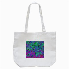 Green Purple Pink Background Tote Bag (white)