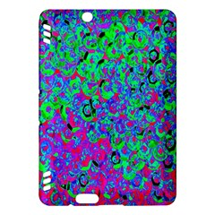 Green Purple Pink Background Kindle Fire Hdx Hardshell Case by Simbadda