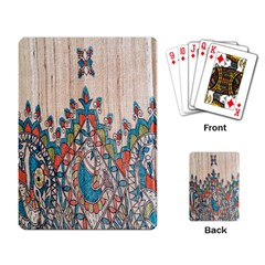 Blue Brown Cloth Design Playing Card