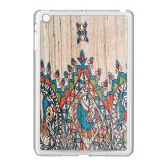 Blue Brown Cloth Design Apple Ipad Mini Case (white) by Simbadda