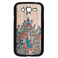 Blue Brown Cloth Design Samsung Galaxy Grand Duos I9082 Case (black) by Simbadda