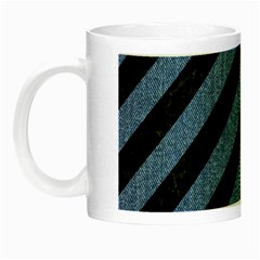 Stripes3 Black Marble & Blue Denim Night Luminous Mug by trendistuff