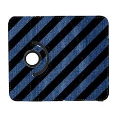 Stripes3 Black Marble & Blue Denim Samsung Galaxy S  Iii Flip 360 Case by trendistuff