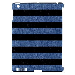 Stripes2 Black Marble & Blue Denim Apple Ipad 3/4 Hardshell Case (compatible With Smart Cover) by trendistuff
