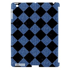 Square2 Black Marble & Blue Denim Apple Ipad 3/4 Hardshell Case (compatible With Smart Cover) by trendistuff