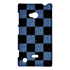 Square1 Black Marble & Blue Denim Nokia Lumia 720 Hardshell Case by trendistuff