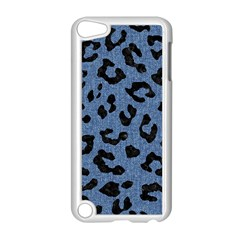 Skin5 Black Marble & Blue Denim Apple Ipod Touch 5 Case (white) by trendistuff