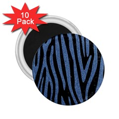 Skin4 Black Marble & Blue Denim (r) 2 25  Magnet (10 Pack) by trendistuff