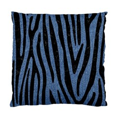 Skin4 Black Marble & Blue Denim Standard Cushion Case (one Side) by trendistuff